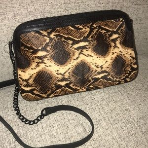 Patricia Nash calfhair python leather crossbody